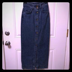 H&M Long Denim Skirt